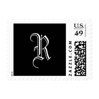 "Monogram ""R"" Postage Old English Style"