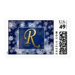 monogram_r postage stamp