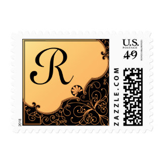 Monogram : R Postage Stamp