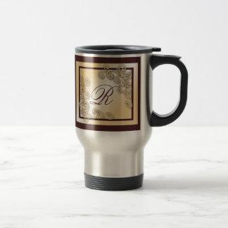 Monogram 'R' Travel/Commuter Mug