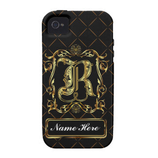 Monogram R Vibe Important View Notes Please Case-Mate iPhone 4 Cases