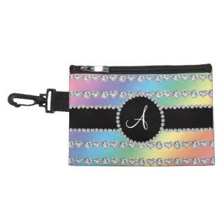 Monogram rainbow diamond hearts stripes accessories bag