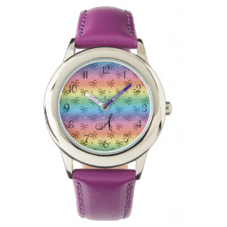 Monogram rainbow diamonds and bows wristwatches