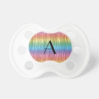 Monogram rainbow faux bois BooginHead pacifier