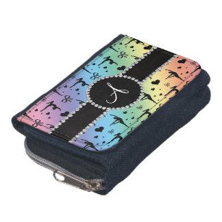 Monogram rainbow gymnastics hearts bows wallet