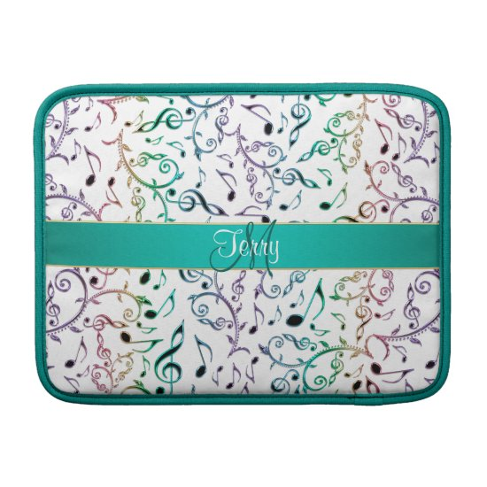 Monogram Rainbow Music Notes Macbook Air Sleeve