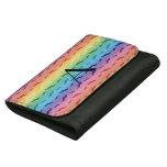 Monogram rainbow mustache pattern wallet