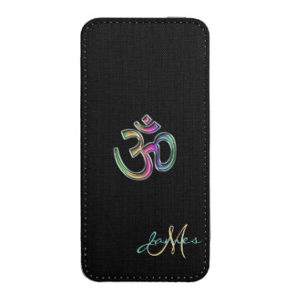 Monogram Rainbow OM on Black Phone Pouch iPhone 5 Pouch