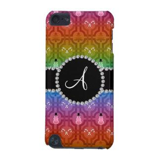 Monogram rainbow snowman trellis pattern iPod touch (5th generation) covers