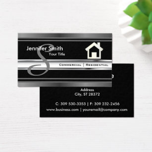 Real estate agent business cards templates zazzle monogram real estate professional agent business card wajeb Choice Image