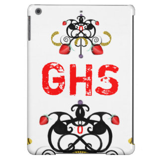 MONOGRAM RED AND BLACK iPad AIR COVERS