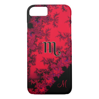 Monogram Red and Black Zodiac Sign Scorpio Case