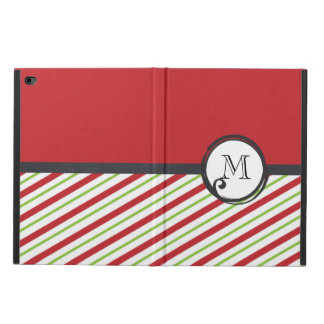 Monogram Red And Green Diagonal Striped Pattern Powis iPad Air 2 Case