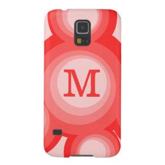 Monogram Red and Pink rings Galaxy S5 Case