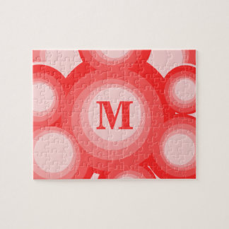 Monogram Red and Pink rings Puzzle