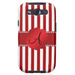 Monogram red and white stripes samsung galaxy SIII cases