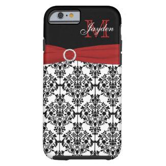 Monogram Red Black White Damask iPhone 6 case Vibe