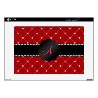 "Monogram Red diamonds 15"" Laptop Skins"