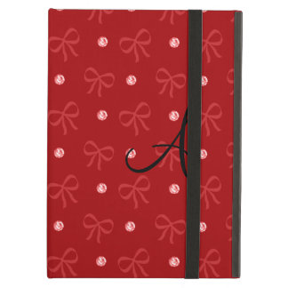 Monogram red diamonds and bows iPad air case
