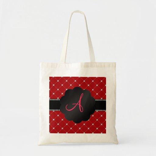 Monogram Red diamonds Canvas Bags