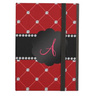 Monogram Red diamonds iPad Air Cases