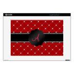 Monogram Red diamonds Laptop Decals