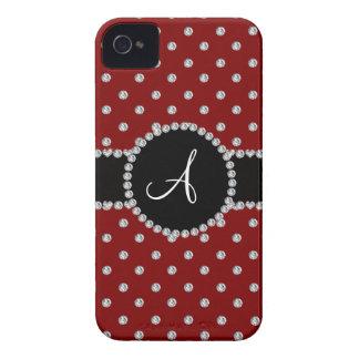Monogram red diamonds polka dots iPhone 4 cover