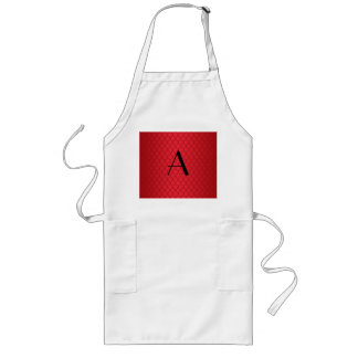 Monogram red dragon scales aprons