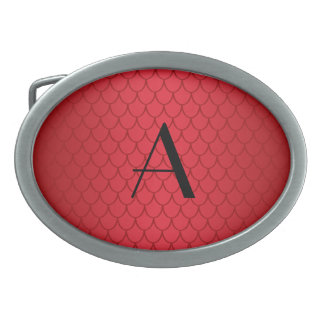 Monogram red dragon scales belt buckles