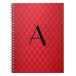 Monogram red dragon scales journals