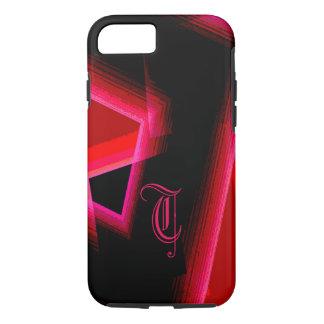 Monogram Red Geometric Design iPhone 7 cover
