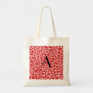 Monogram red giraffe print bag
