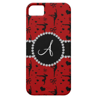 Monogram red gymnastics hearts bows iPhone 5 case