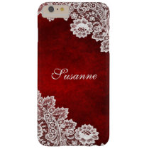 Monogram Red Lace Look iPhone 6 Case