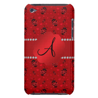 Monogram red ladybugs pattern barely there iPod cover