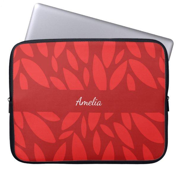Monogram red leaves laptop sleeve