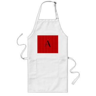 Monogram red plaid aprons