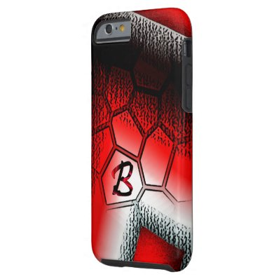 Monogram Red Style iPhone cover