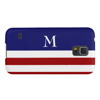 Monogram Red, White and Blue S5 Case
