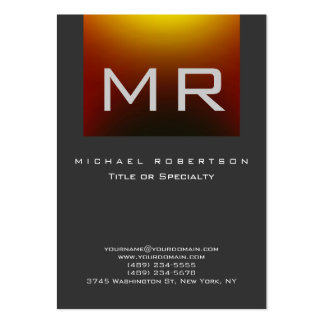 Monogram Red Yellow Gray Clean Business Card