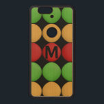 """Monogram Red Yellow Green Dots Wood Nexus 6P Case<br><div class=""""desc"""">If you have any questions on the design or need any changes,  please contact me by clicking on &quot;Ask this Designer&quot; below.</div>"""