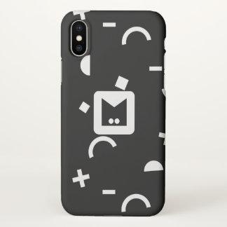 Monogram. Retro 90s Geometric Pattern. iPhone X Case
