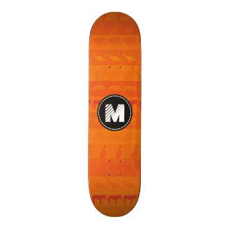 Monogram Retro Colorful Animals Pattern #9 Skateboard Deck