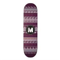 Monogram Retro Colorful Animals Pattern Skateboard Deck
