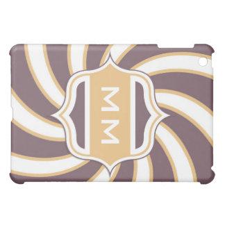 Monogram Retro Spiral orange purple iPad Mini Cover