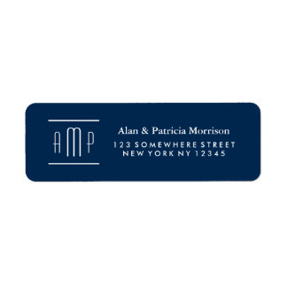 Monogram Return Address Label