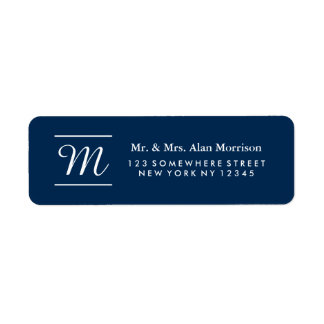 Monogram Return Address Label 3