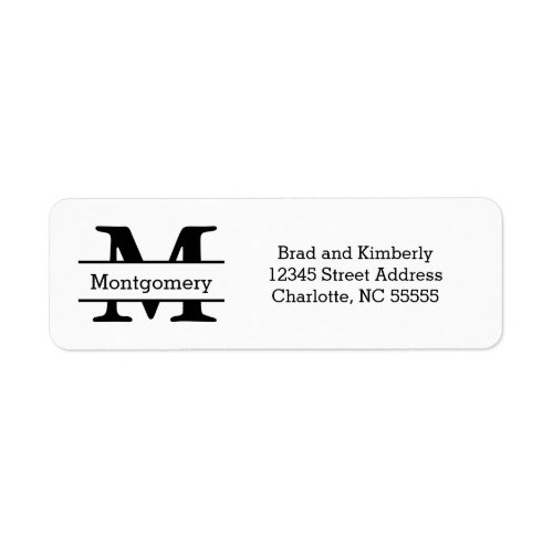 Monogram _ Return Address Labels