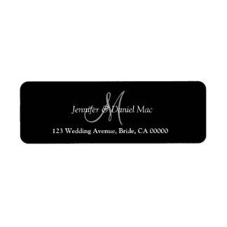 Monogram Return Address Labels For Wedding