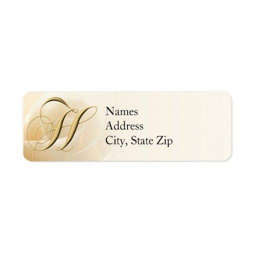 Monogram Return Address Labels Letter H
